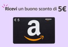 Ottieni SUBITO 5 euro di Sconto su Amazon
