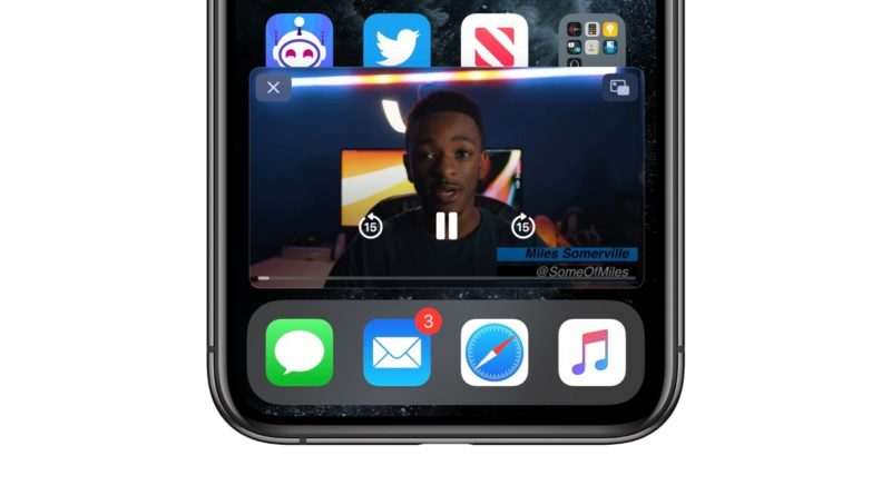 Picture-in-Picture iPhone 2