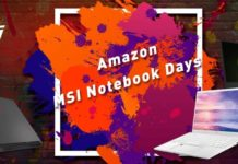 "Amazon ""MSI Notebook Days"""