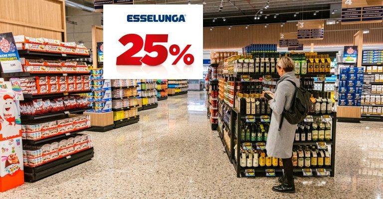 Sconto 25% Esselunga su prodotti Top ed Equilibrio