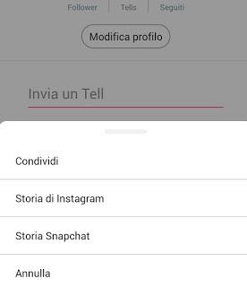 Tellonym su Instagram Stories 2