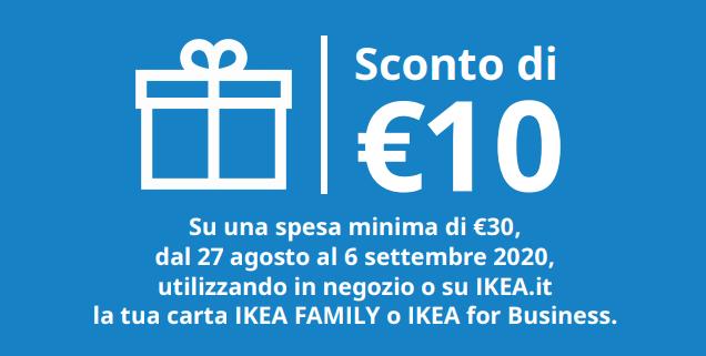 Buono sconto Ikea 10 euro