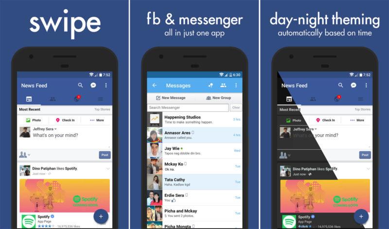 Facebook fa chiudere le app Swipe e Simple Social per Android