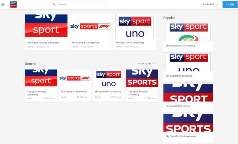 SkyStreaming.ga NON permette di guardare i canali Sky gratis