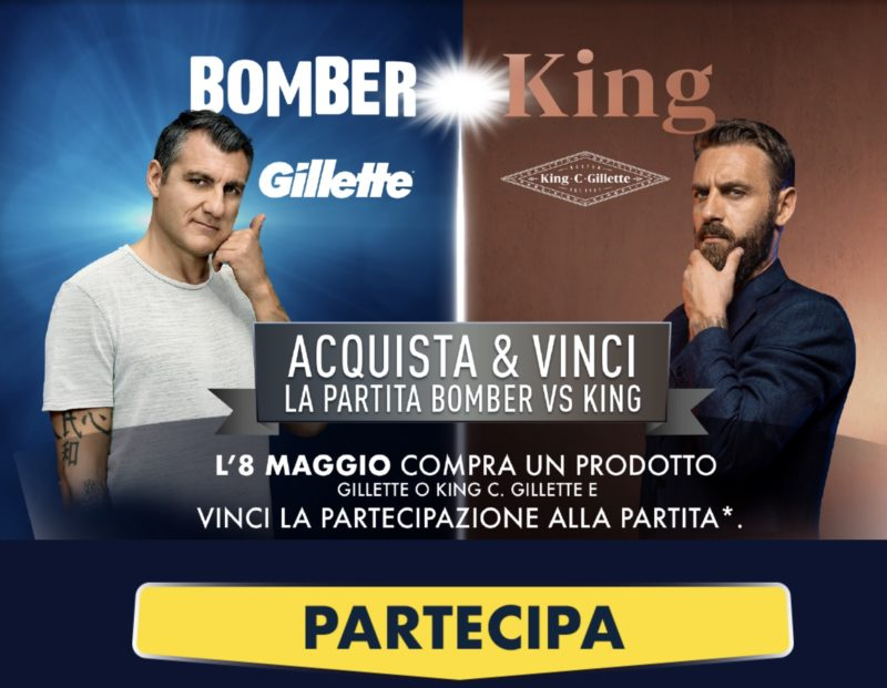 "Concorso Gillette e King C su Amazon: vinci la partita ""Bomber vs King"""