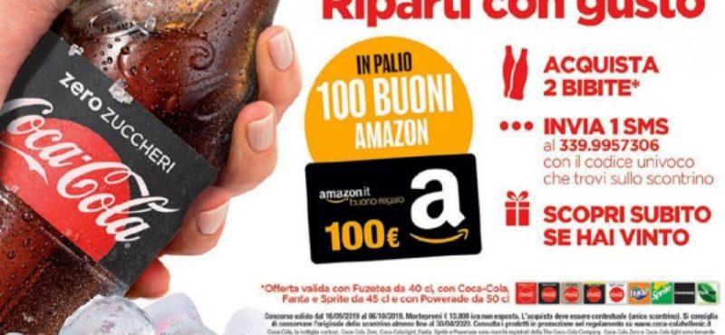 Concorso Coca Cola: vinci 100 buoni Amazon da 100 euro | Come Partecipare