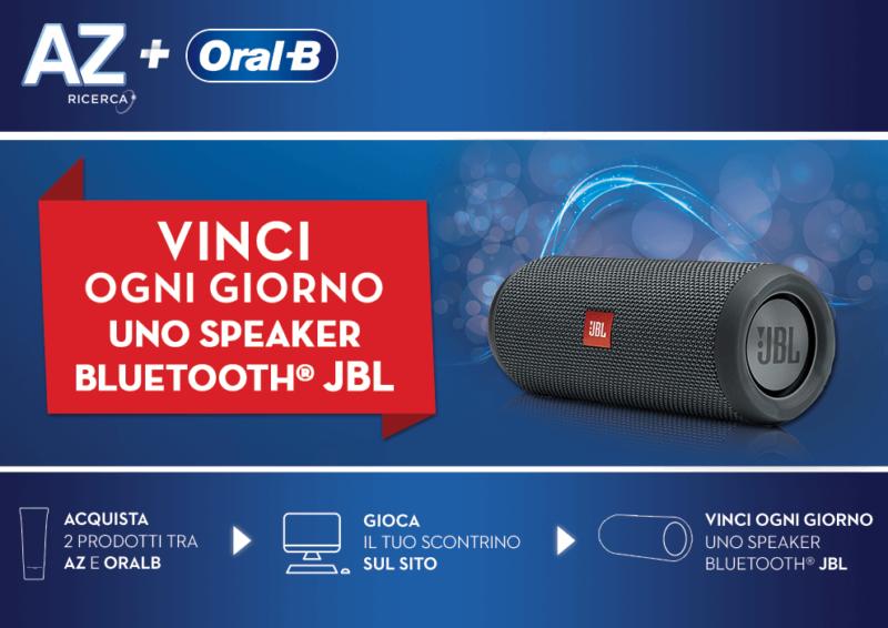 Concorso AZ e Oral-B: vinci speaker bluetooth JBL   Come Partecipare